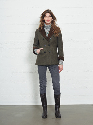KLAUSTUR ladies coat woolen tweed